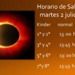 Horario de Salida martes 2 julio